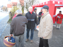 Infostand in Sinning