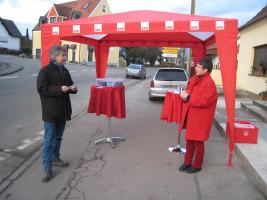 Infostand in Oberhausen